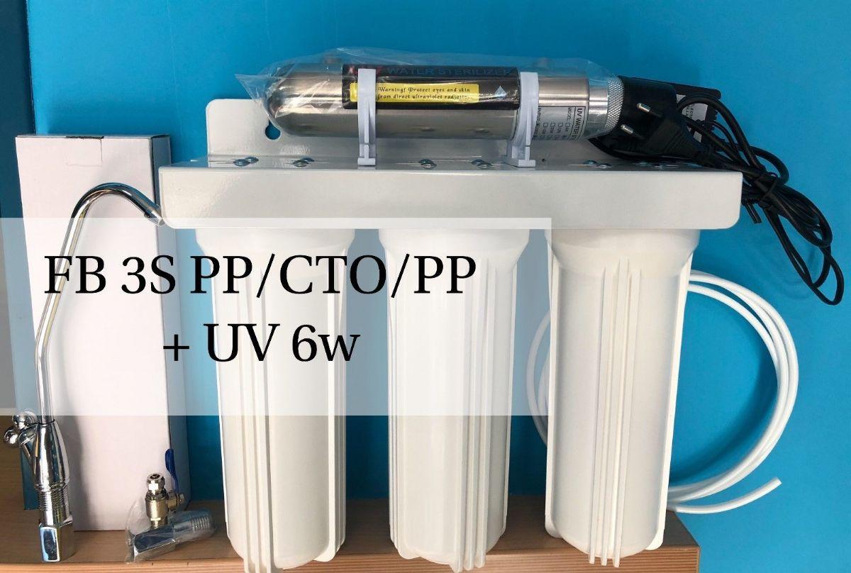 Depuratore acqua purificatore acqua microfiltrante 3 stadi con sterilizzatore uv completo 6 w - Depuratore acqua casa prezzo ...