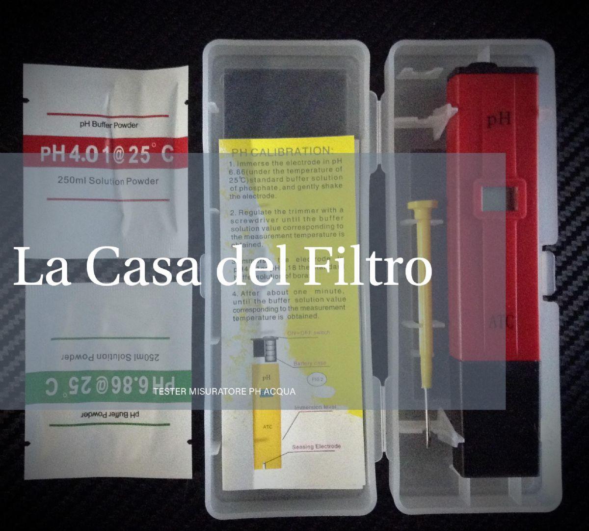Ph per acqua misuratore tester pennino ph acqua osmosi depuratore la casa del filtro - Misuratore ph piscina ...