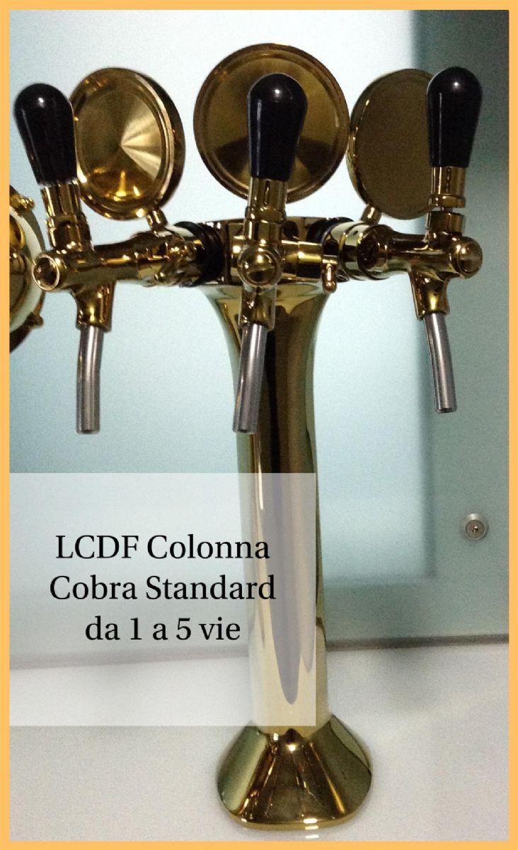 Spillatore birra acqua colonna cobra colonnina 1 2 3 4 5 vie standard inox e oro la casa del - Spillatore birra da casa ...